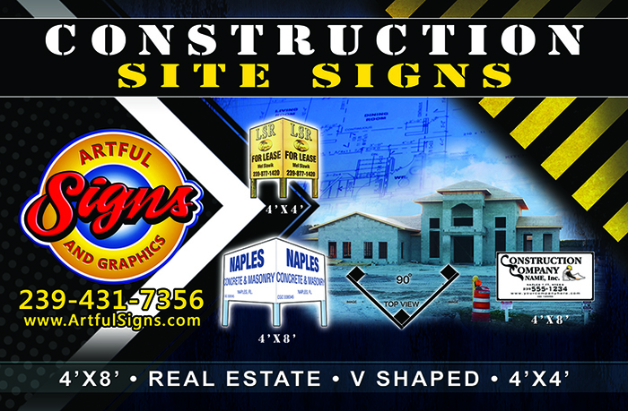 Construction Site Sign by Artful Signs